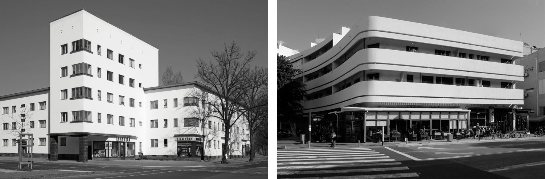 jean molitor | Links: Weisse Stadt Reinickendorf, Berlin | Rechts: Dizengoff Platz, Tel Aviv
