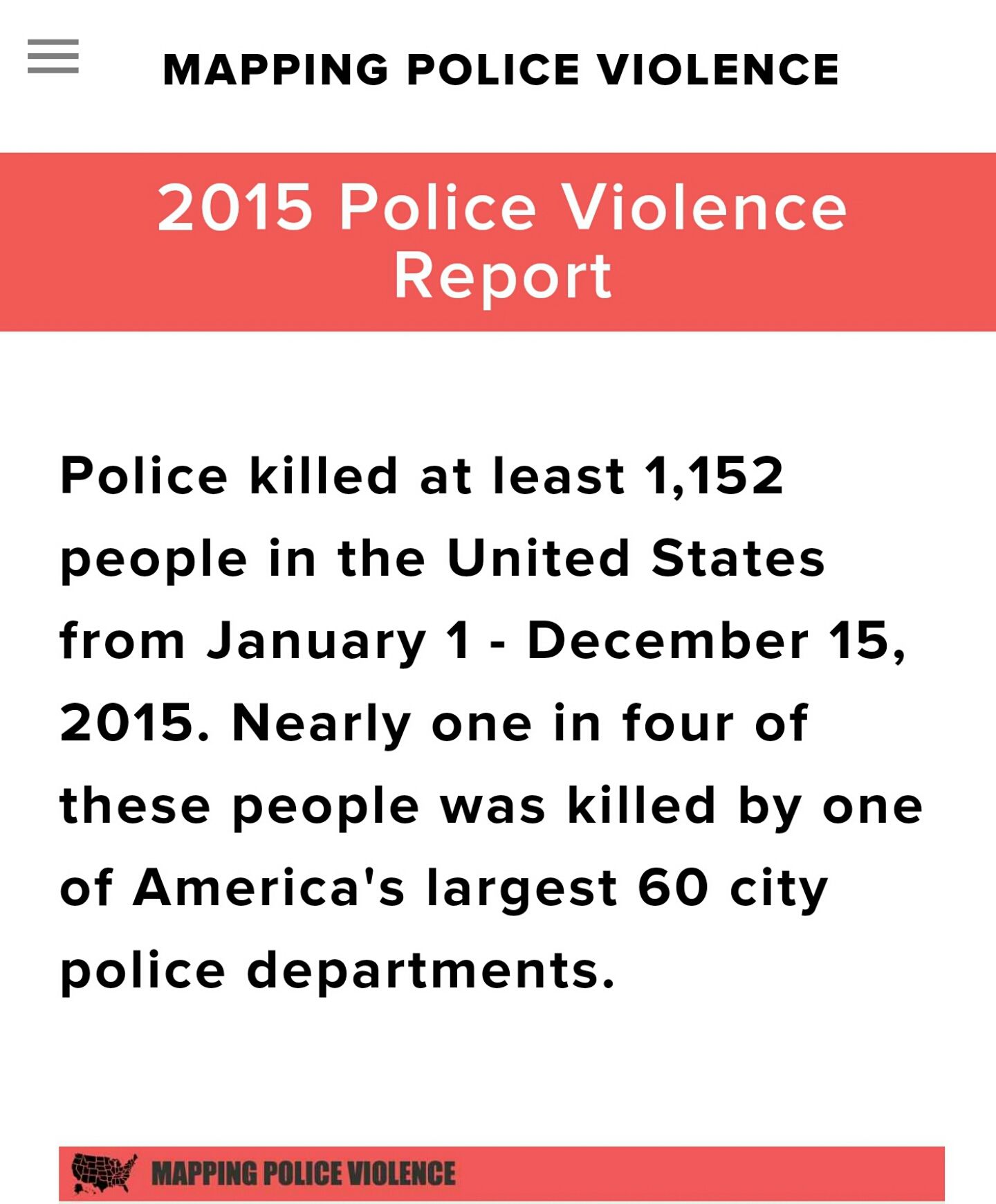 Credit: Samuel Sinyangwe /  Mapping Police Violence /  Join Campaign Zero