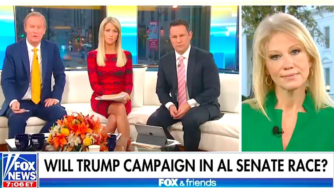 Conway on the morning Fox News program Fox & Friends 11/20/17 Credit: Fox News