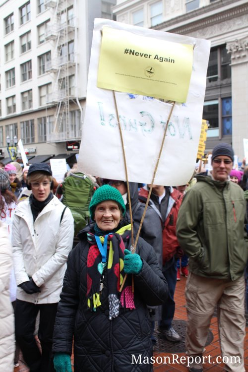 Normal Marshall, 85, Portland March For Our Lives 3/24/18