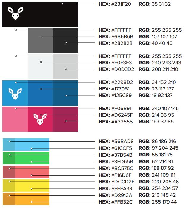Software color palette