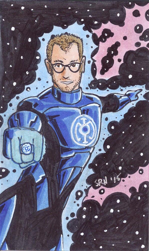 Bryan Brush with a Blue Power Ring by Scott Ryan-Hart