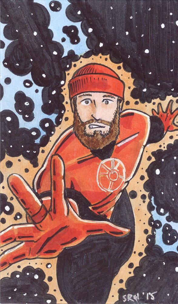 Sam Bantner with an OrangePower Ring by Scott Ryan-Hart