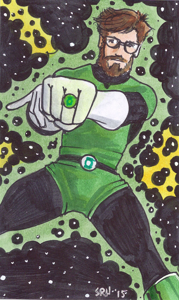 Sean Doran with a Green Power Ring by Scott Ryan-Hart