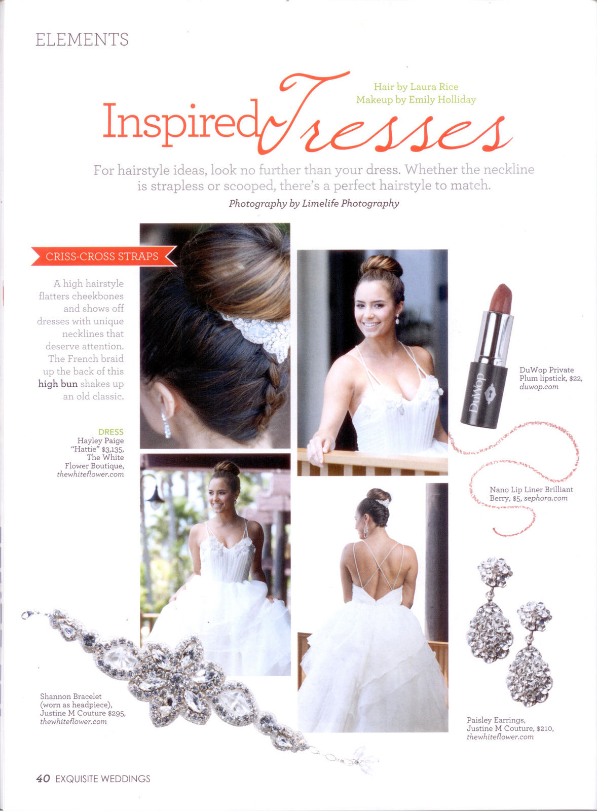 Exquisite Weddings Mag - Dec 2012 Jan 2013 Paisley Earrings and Shannon Cuff Bracelet.jpg