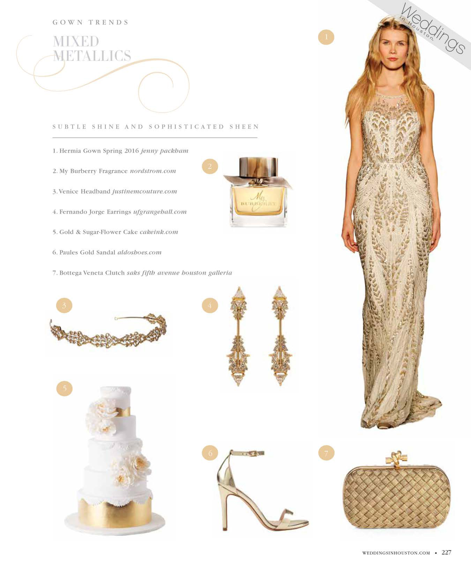 Weddings in Houston Magazine featuring Justine M Couture's Venice Headband