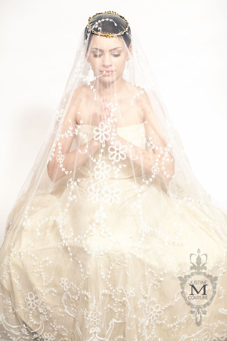 The Catherine Veil from the Justine M Couture Avant Grade Collection