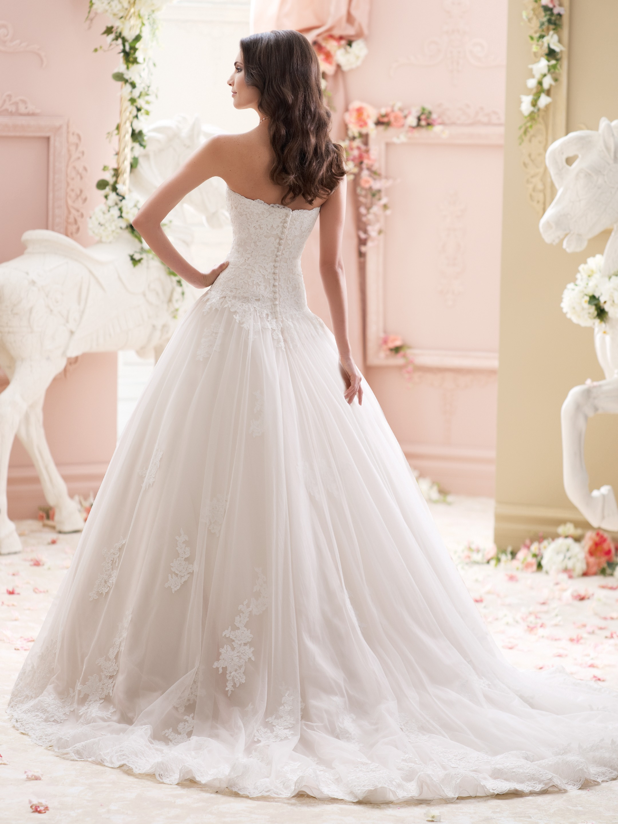 Another David Tutera bridal gown design; beautiful, classic and feminine.