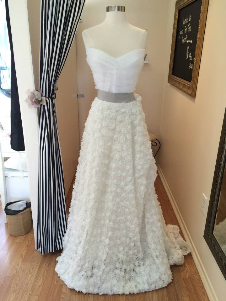 An enchanting Christian Soriano (Project Runway alum!!) gown at Dahlia Bridal