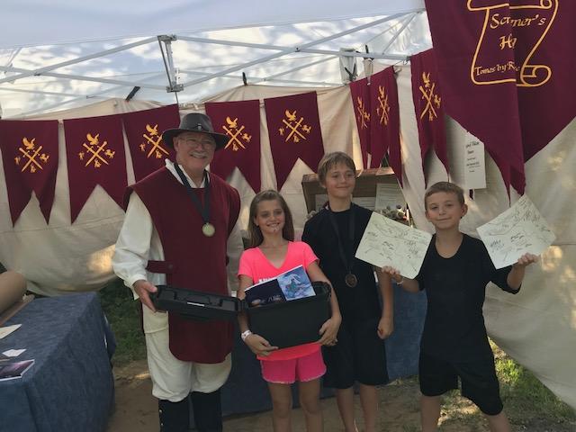 The winners of the treasure hunt!
