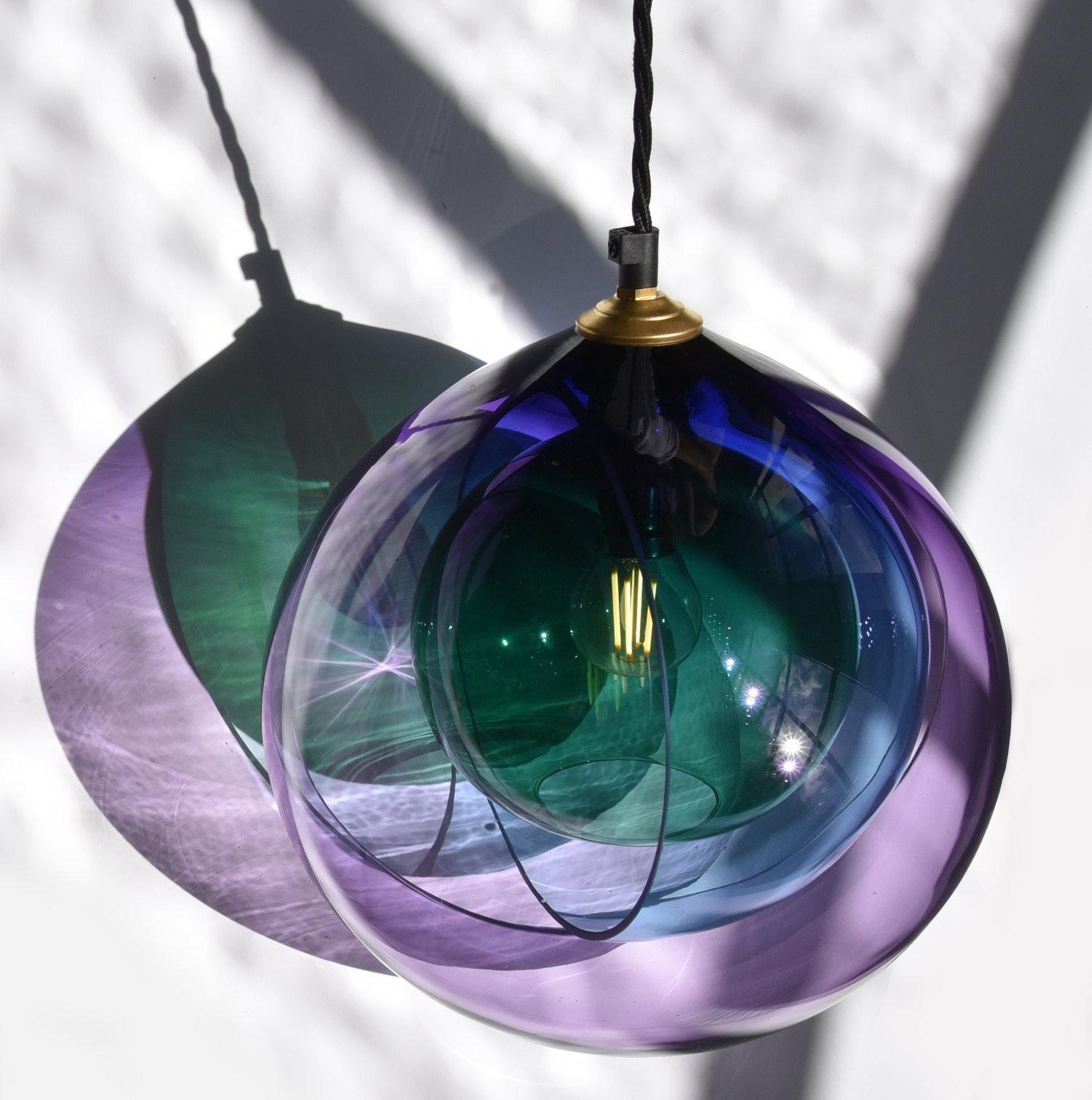 Atelier Aitken Monmouth Chromatherapy Green blue purple Menage a Trois Pendant.jpg