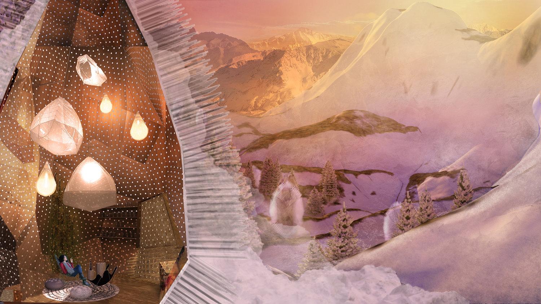 Atelier Aitken Futuristic Architecture Alpine Home Interior section.jpg