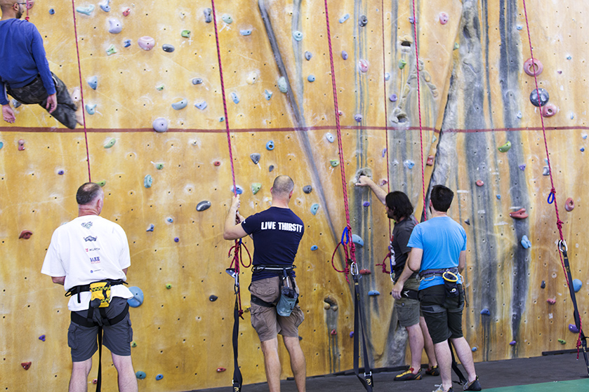 Senior Rock Wall climbing at PCYC Erindale Centre