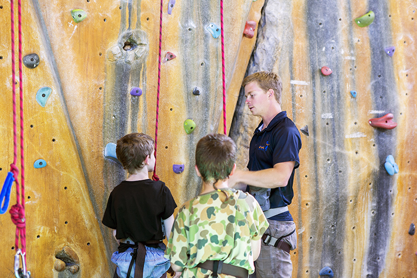 Junior Rock Wall Climbing at PCYC Erindale Centre