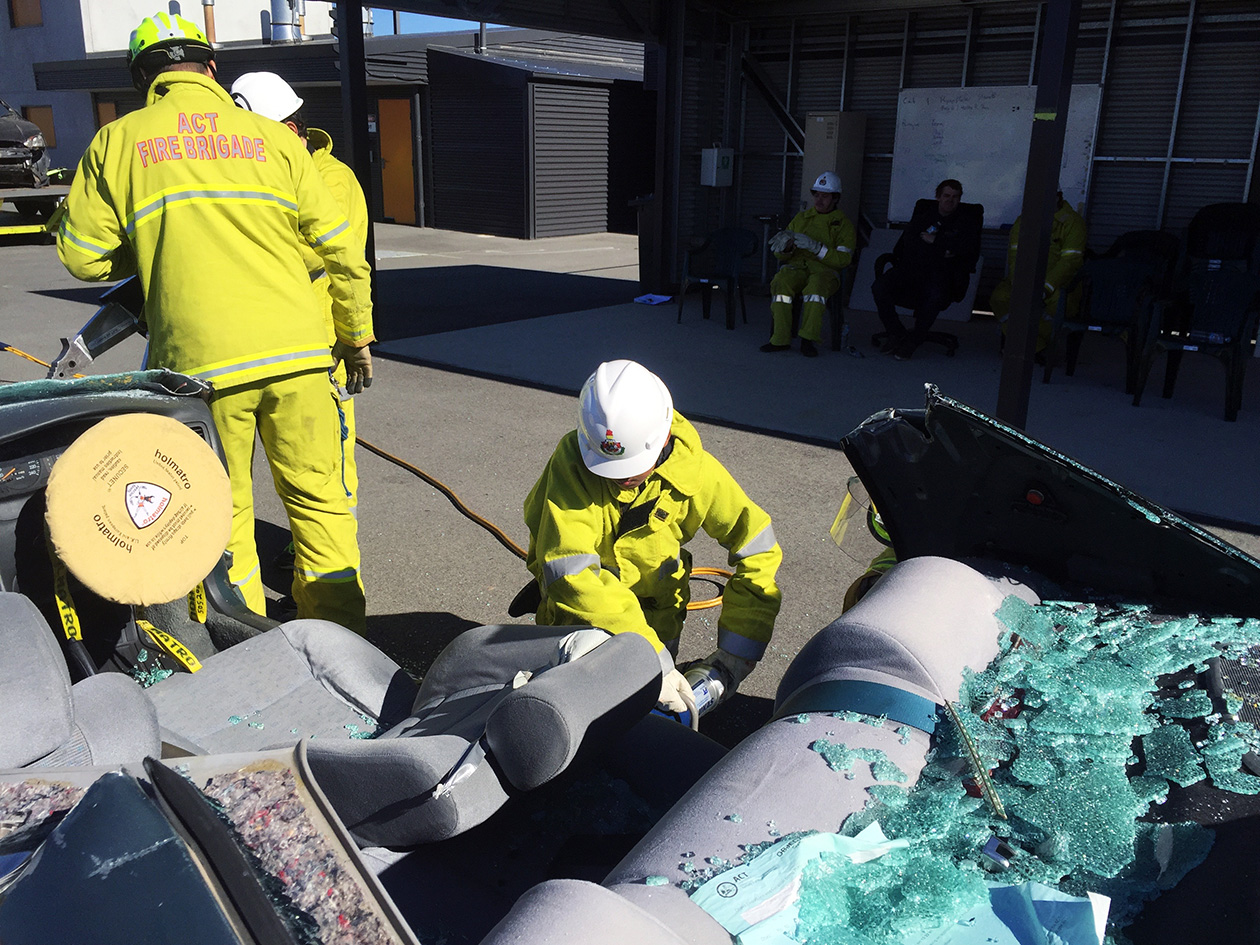Canberra PCYC takes part in the ACT Fire & Rescue Road Safety Awareness program