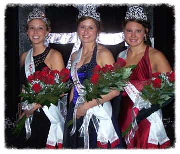2009 Kolacky Royalty includes Queen and Miss Congeniality Ashlea Pan, First Princess Bobbi Jo Tiede, and Second Princess Jillian Turek