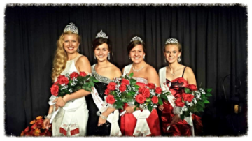 Kolacky Days Royalty 2014 (from left) Queen Katrina Reeder, First Princess Chloe Tuma, Second Princess Taylor Skluzacek, and Miss Congeniality Julie Trnka