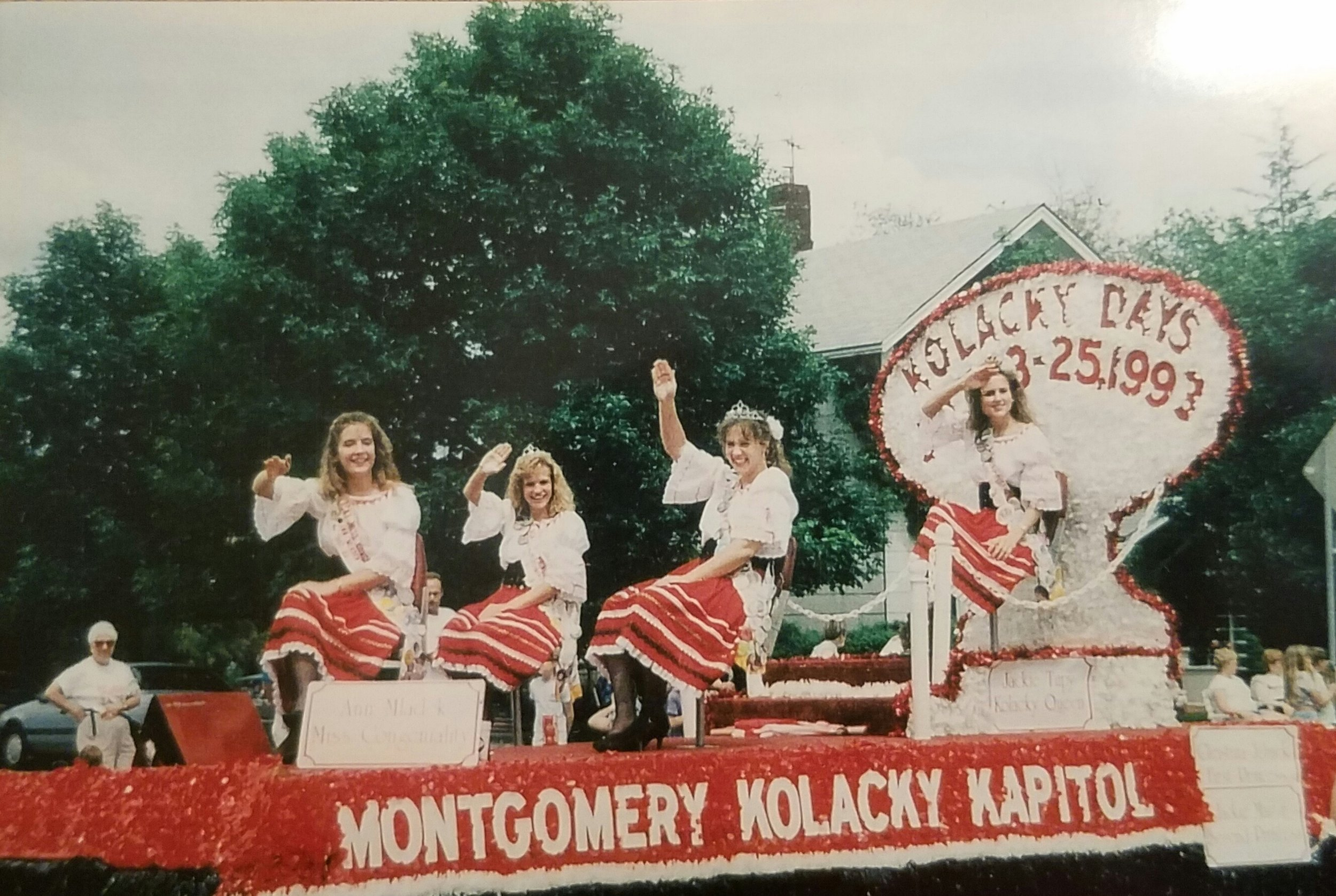 Montgomery's 1992 Kolacky Days Royalty From Left: Miss Congeniality Ann Mladek, 1st Princess Christina Jelinek, 2nd Princess Jackie Martin and Queen Jacqueline Tupy.