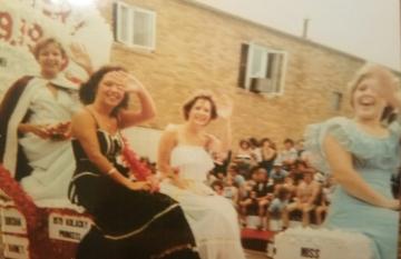 1979 Kolacky Day Royalty. From Left: Queen Brenda Holomek, 1st Princess Kathy Barnett, 2nd Princess Deborah Dorshak, & Miss Congeniality Maureen Shaughnessy
