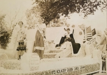 Montgomery's Ambassadors for 1971 were Queen Carol Grimm, 1st Princess Jan Embretson, 2nd Princess Miriam Koschade, and Miss Congeniality Teri Wondra.