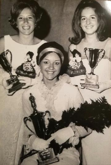 Montgomery's 1969 Kolacky Day Ambassabors. Queen Connie O'Brien, 1st Princess Kathy Mariska, 2nd Princess Bernadine Zahratka, and Miss Congeniality Sandra Holicky