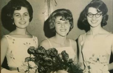 1965 Kolacky Day Royalty. Queen Joyce Vlasak, 1st Princess Millie Krocak, and 2nd Princess Jane Vlasak