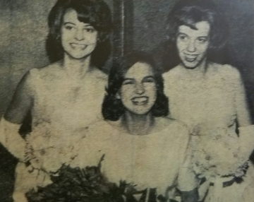 Montgomery's 1964 Royal Ambassadors. Queen Louise Kohout, 1st Princess Betty Tuma, and 2nd Princess Nancy Lind