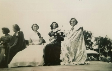 Montgomery's 1951 Kolacky Day Royalty - Queen Margaret Wesley with Mary Voracek and unknown