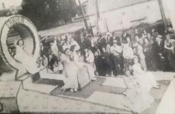 1949 Kolacky Day Royalty - Queen Deloris Schouviller with Betty Mae Soulek and Wanda Zelenka