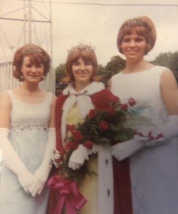 Montgomery's 1966 Kolacky Day Royalty. Queen Betty Jean Corbett, 1st Princess Lila Kukacka, and 2nd Princess Pat Washa