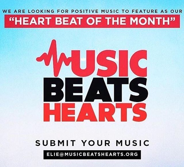 We're looking for an inspirational song to feature as August's #HBOTM. Submit your music to elie@musicbeatshearts.org and have your song make a difference in the world! #musicbeatshearts #mbh #giveback #spreadthebeats #charity