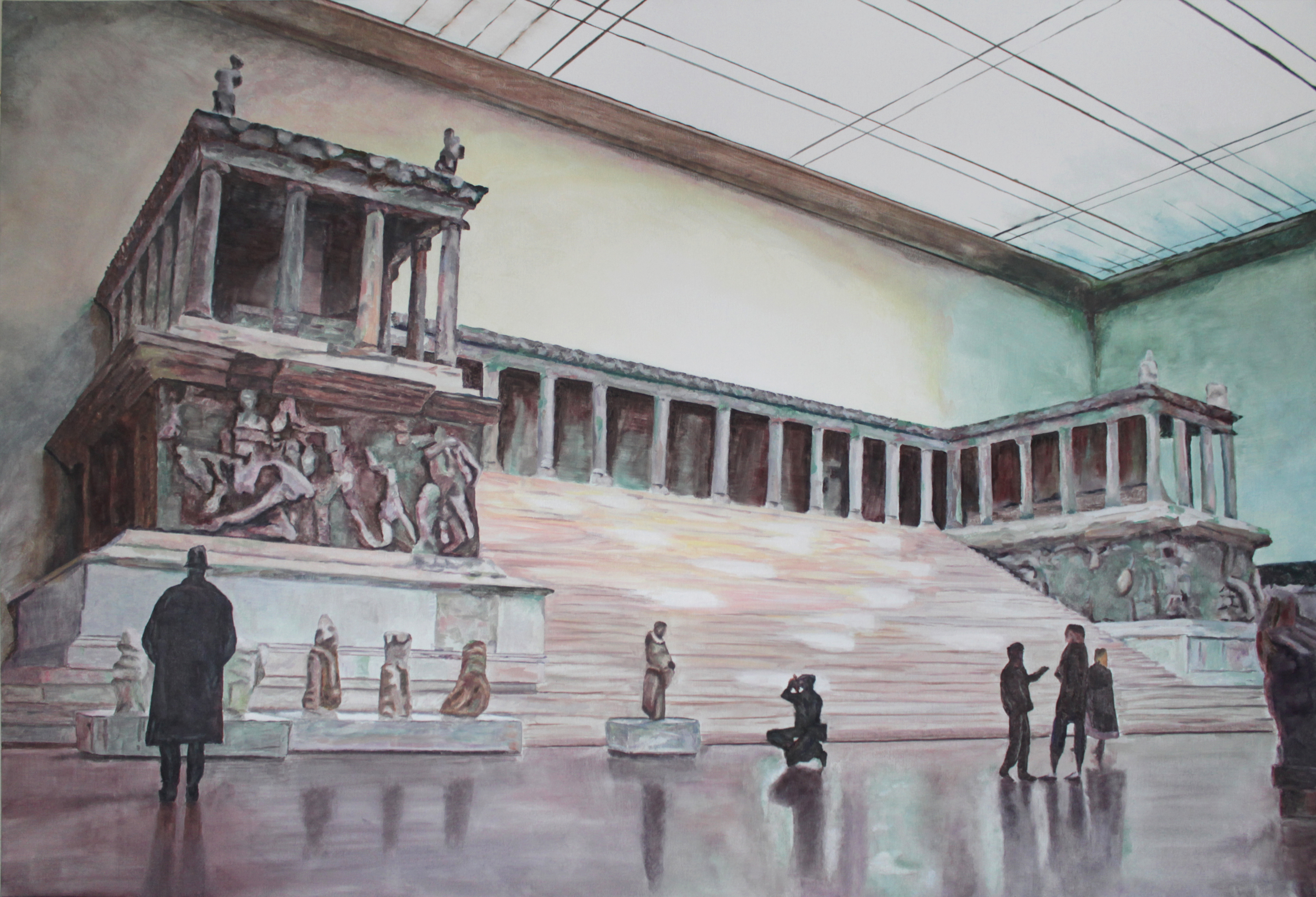 The Pergamon 2015 oil on canvas 38 x 56 in.