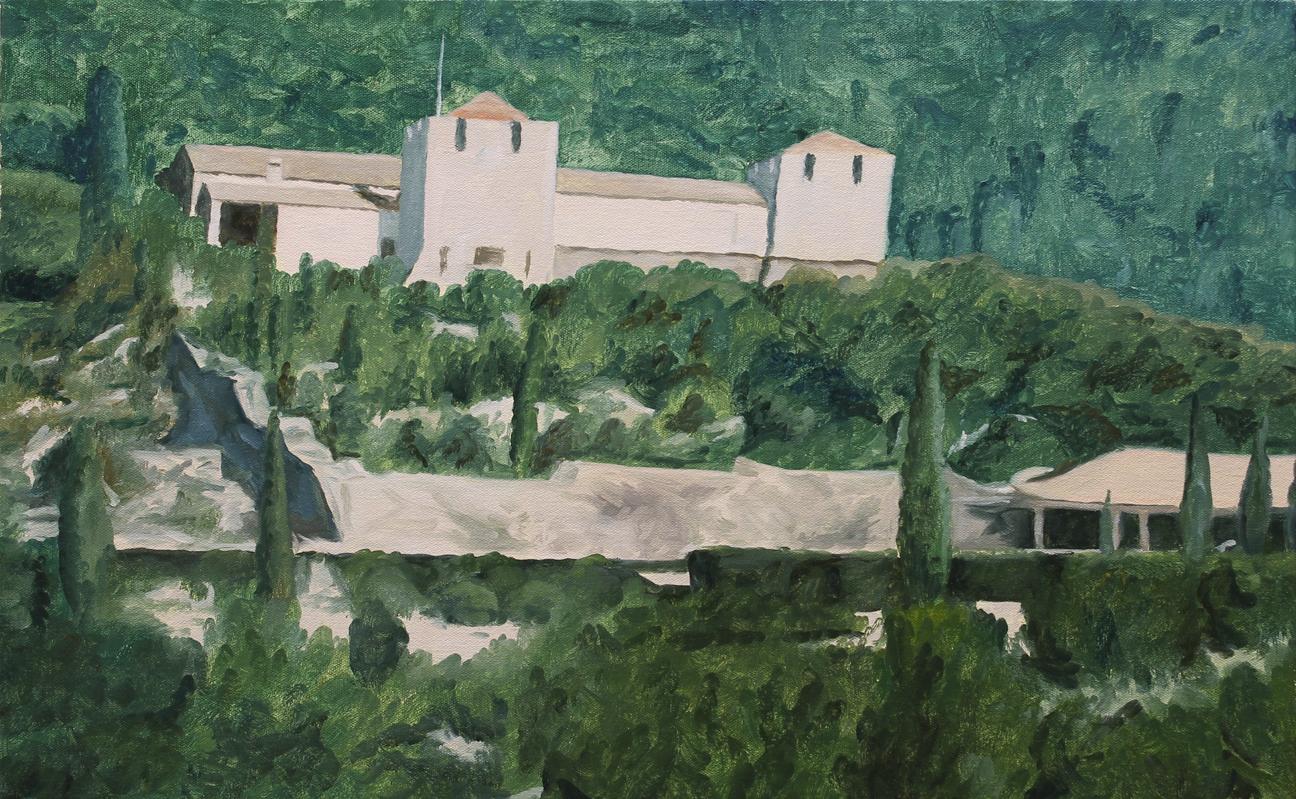 Rothschild Villa, Corfu 2017 oil on canvas 15 x 24 in.