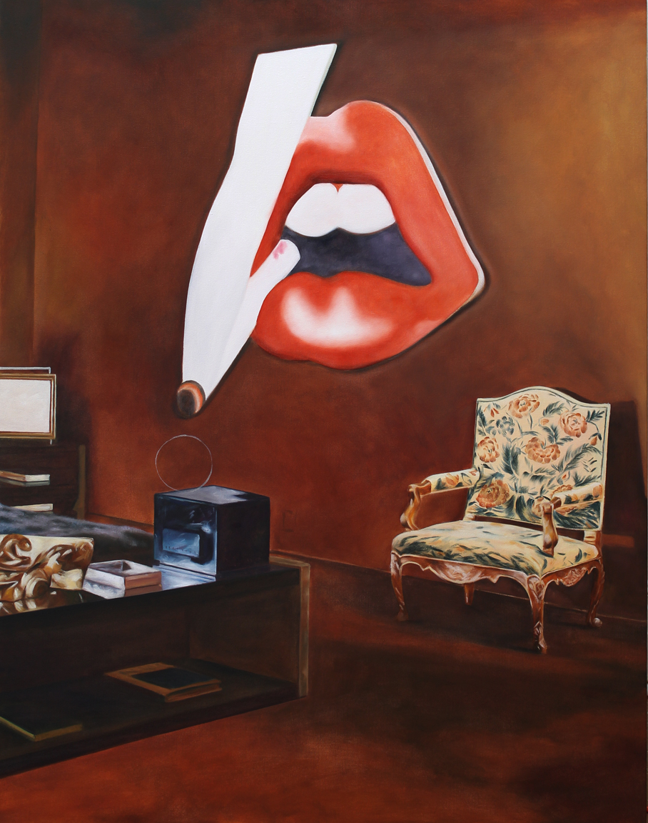 American Collection Painting 14 (Wesselmann) 2017 oil on canvas 48 x 38 in.