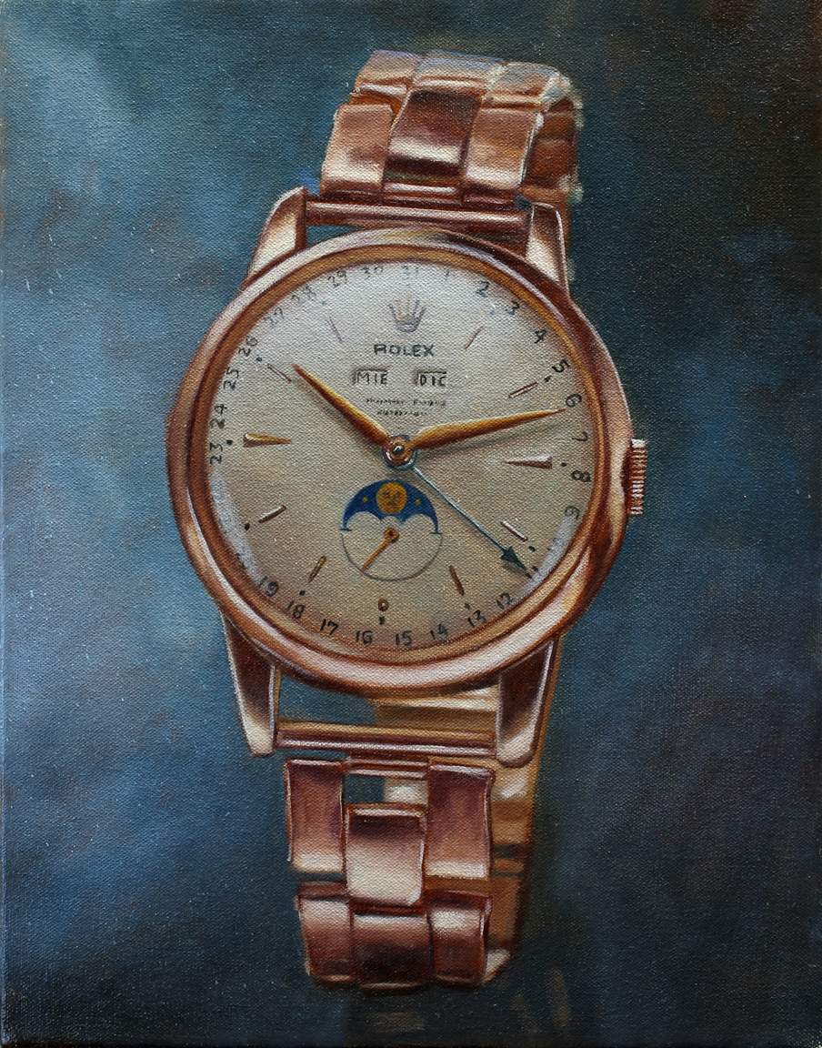 Still Life with Rolex 2018 oil on canvas 14 x 11 in.