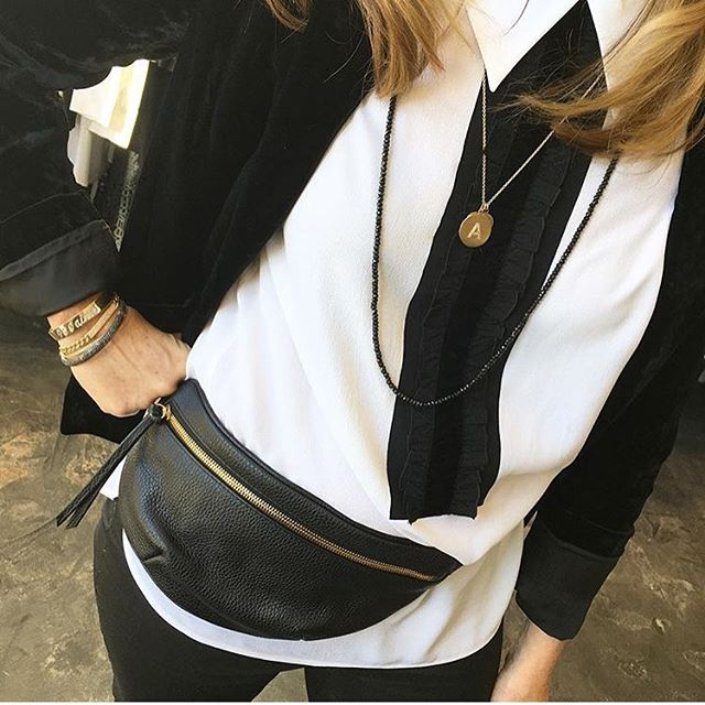 We're so excited to join up with @shopelizabethcharles next Thursday the 26th for their local designer showcase! ✨ It's always a pleasure to meet customers in person and share our products that we hope make your life easier and better! @kathybarish seen here showcasing our classic hip bag in pebbled leather + her own Rocks with Soul jewelry line 💛 She will be among the featured local designers as well! Come have fun and shop local from your favorite boutique on Fillmore Street from 4 to 8 PM Photo RP @shopelizabethcharles