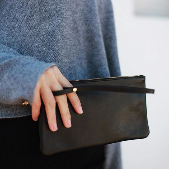 Our new #wristlet is the perfect size to have next to you when you're out and about! The strap has an extra loop that you can slip your finger through for even more security. With two interior pockets, our signature buttery soft Italian leather exterior and durable pigsplit leather interior, this bag's got luxury, style and functionality written all over it! #ExperienceMoreCarryLess #amestovern