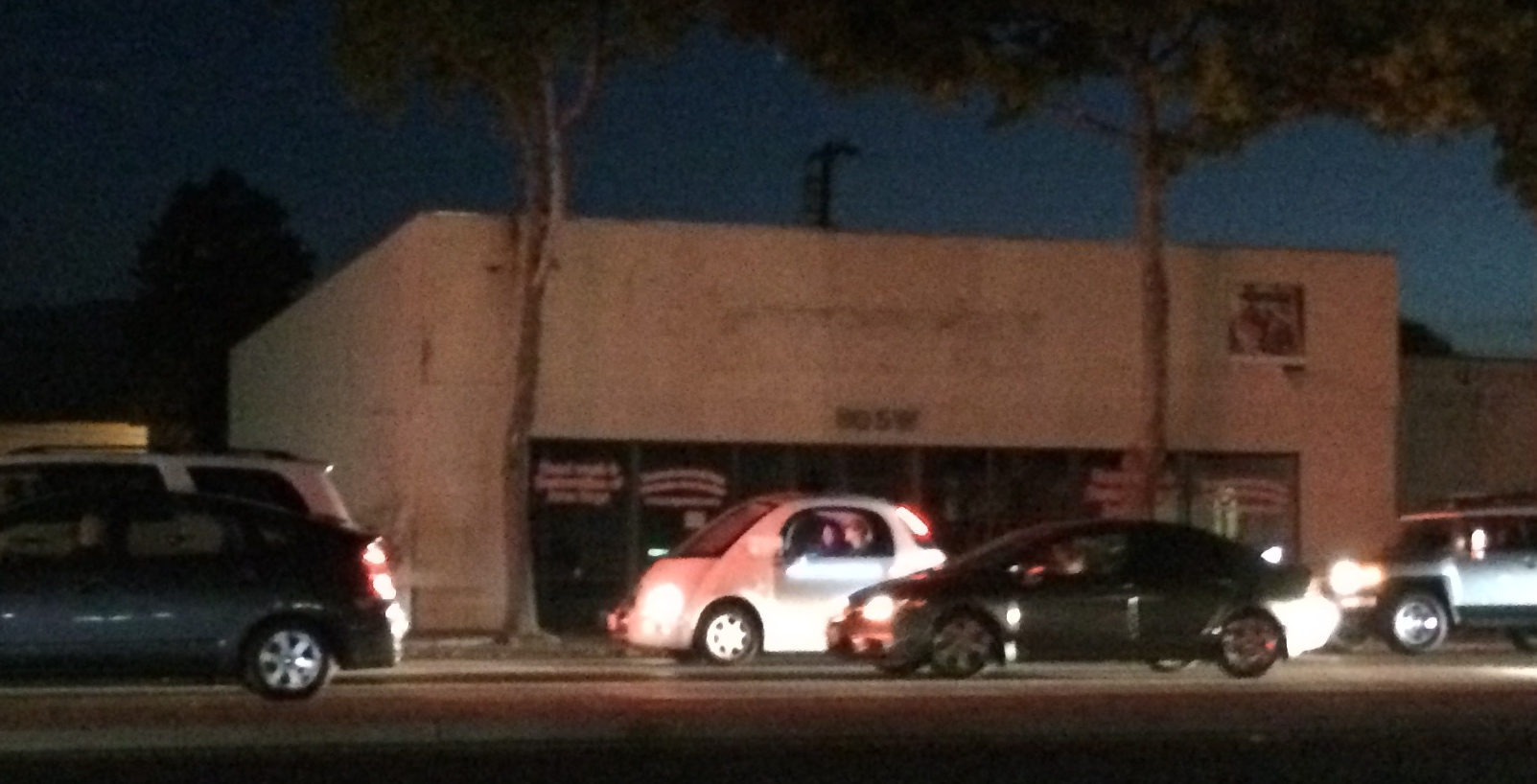 A Google self-driving car spotted in the bay area (Photo by: JOhn Rokos)