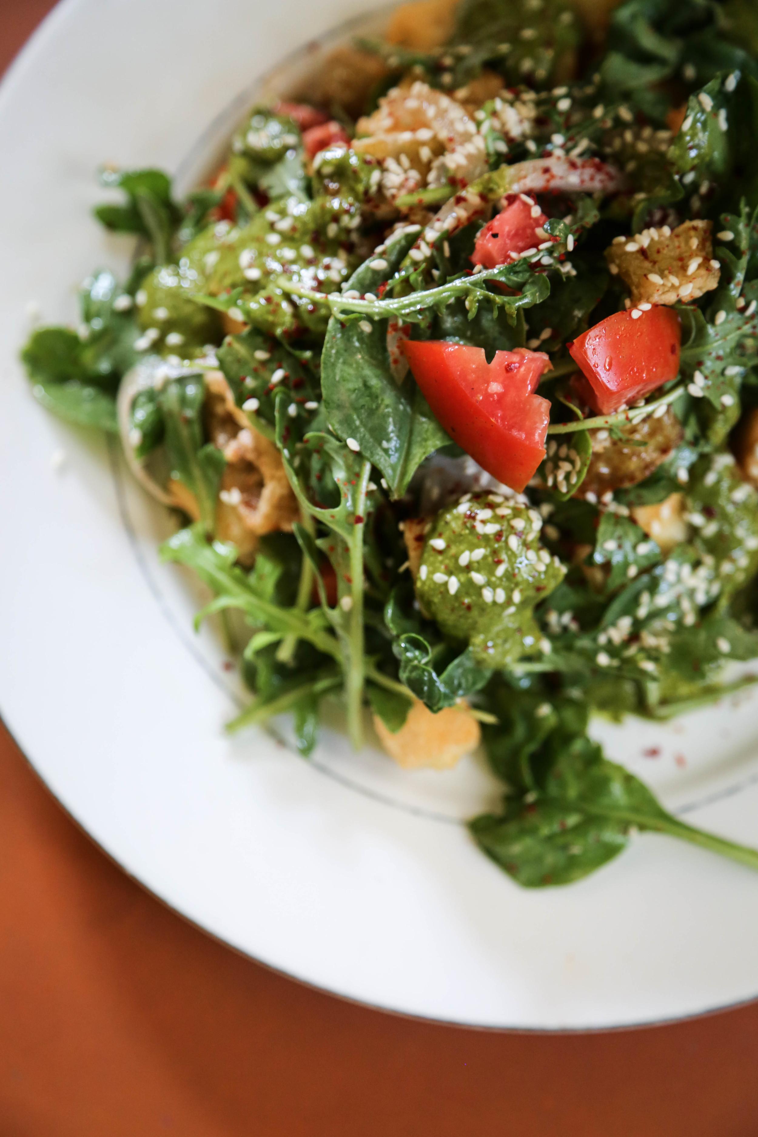Fried Pickled Pepper & Tofu Salad
