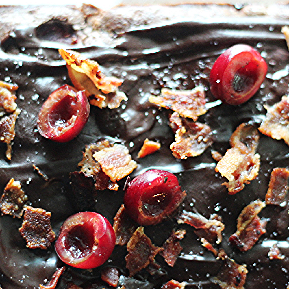 Bacon Black Forest Brownies