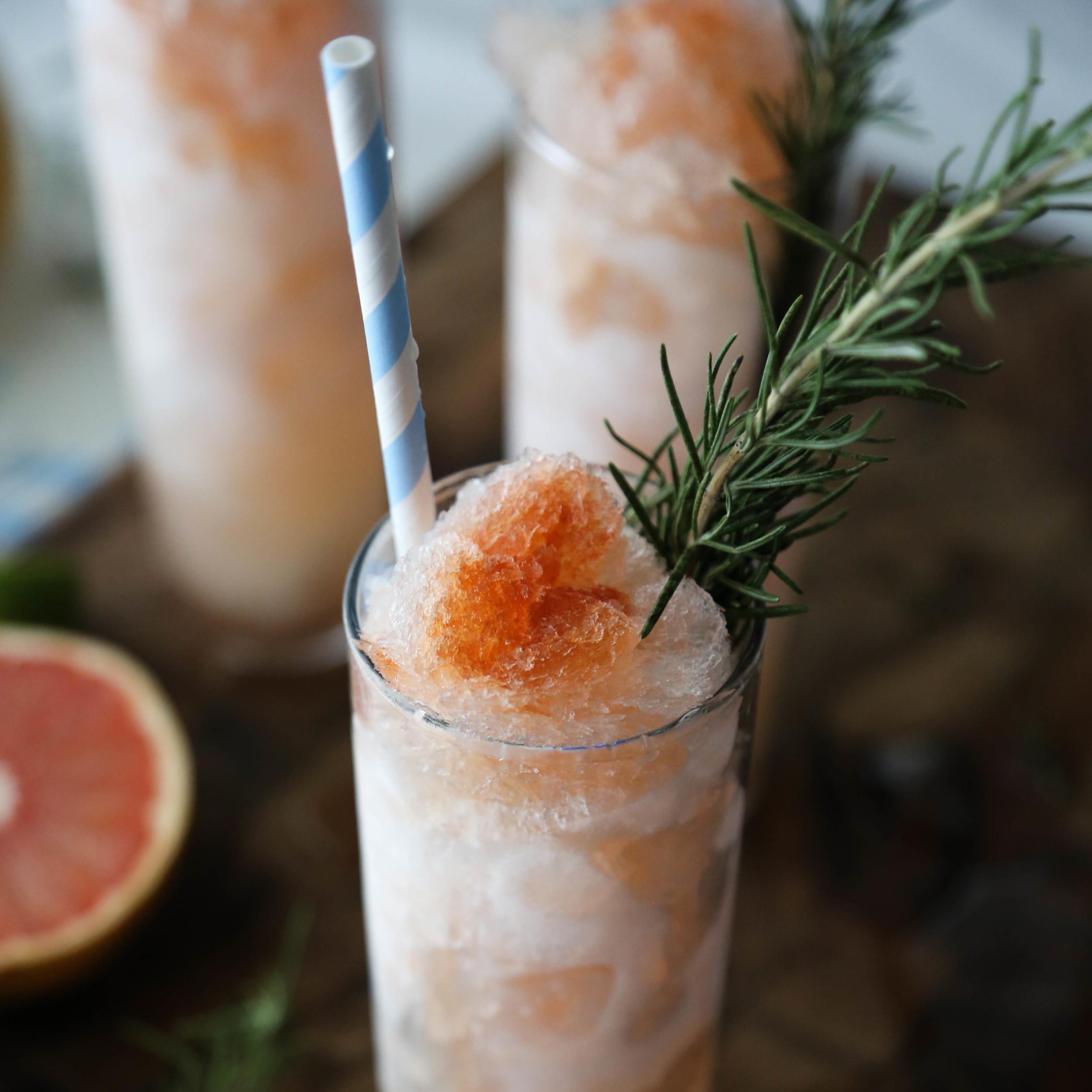 Rosemary Grapefruit Slushies