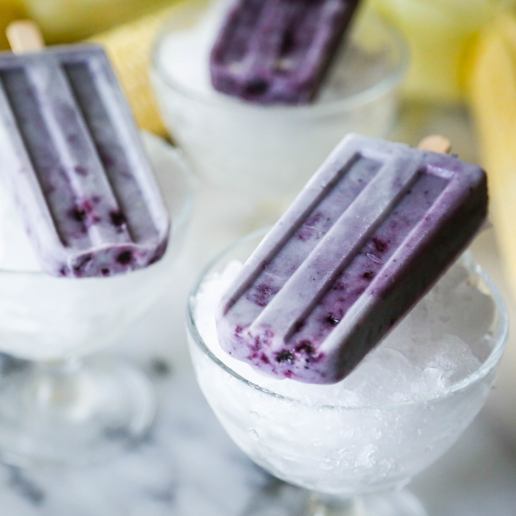 Sweet Corn + Blueberry Pops