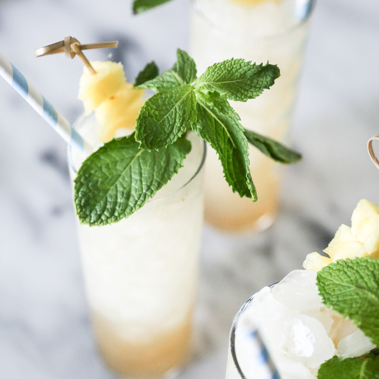 Spiced Pineapple Mojito