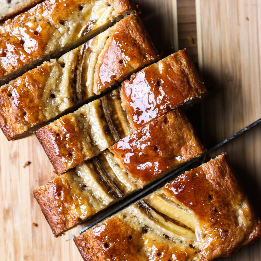 Madeira Glazed Banana Bread