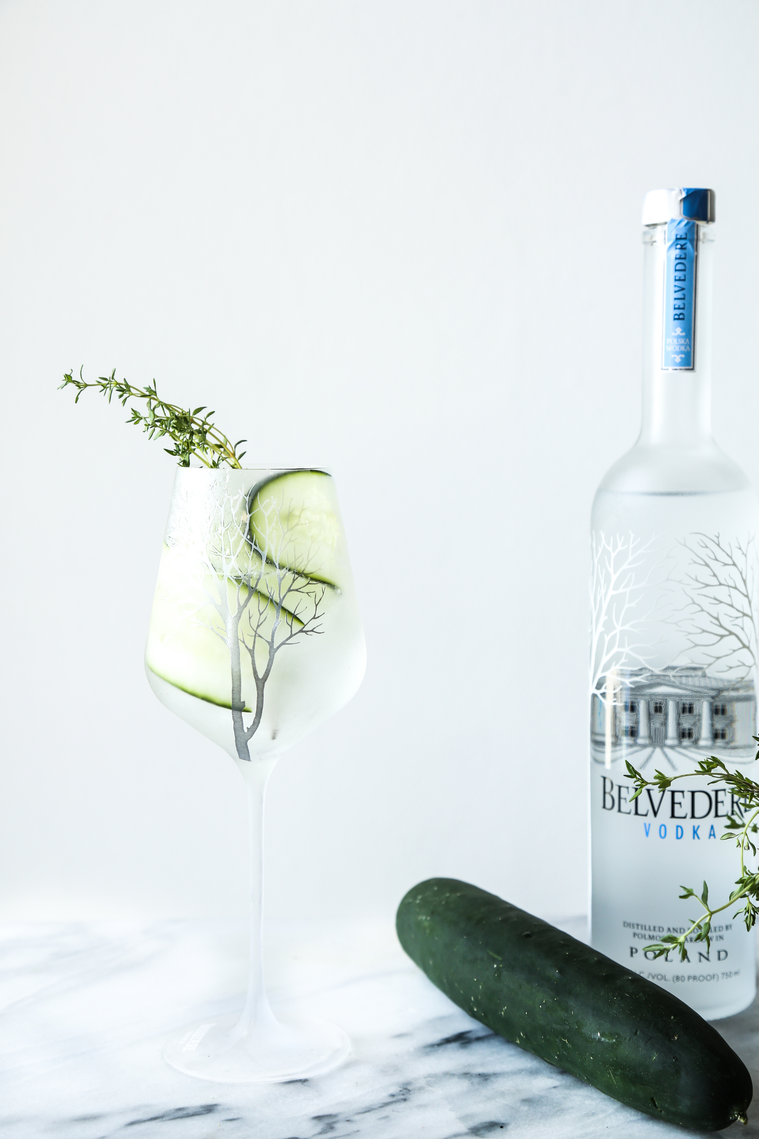 Belvedere Cucumber Thyme Spritz
