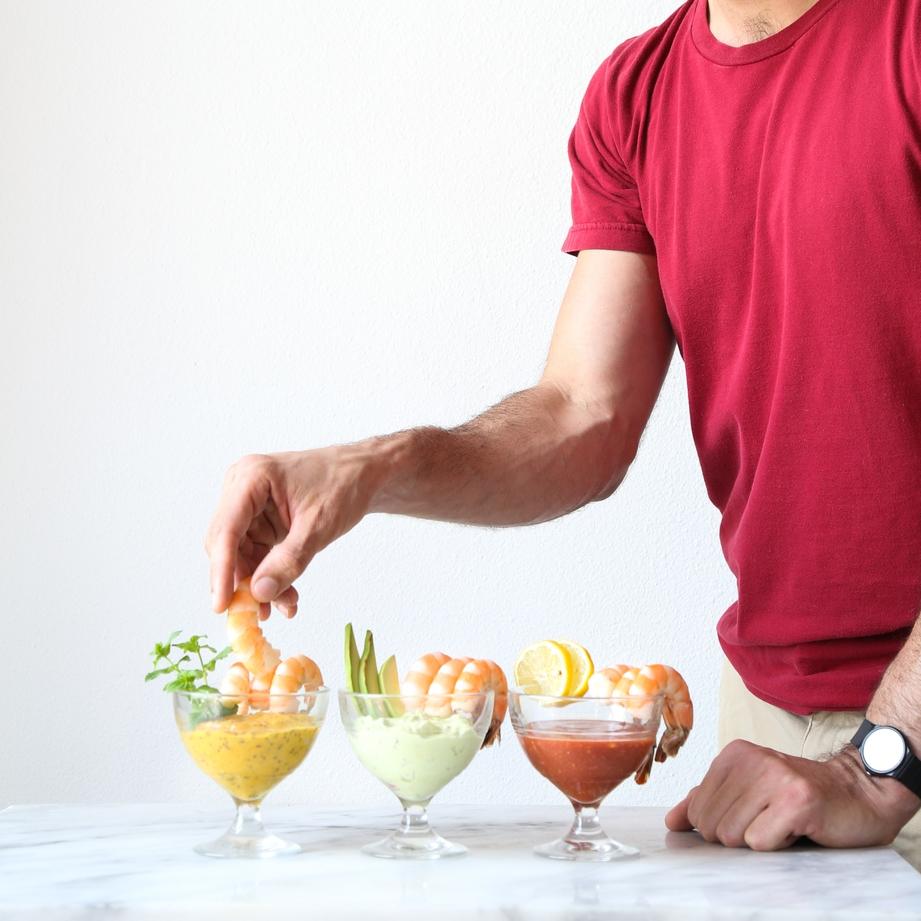 Shrimp Cocktail Three Ways