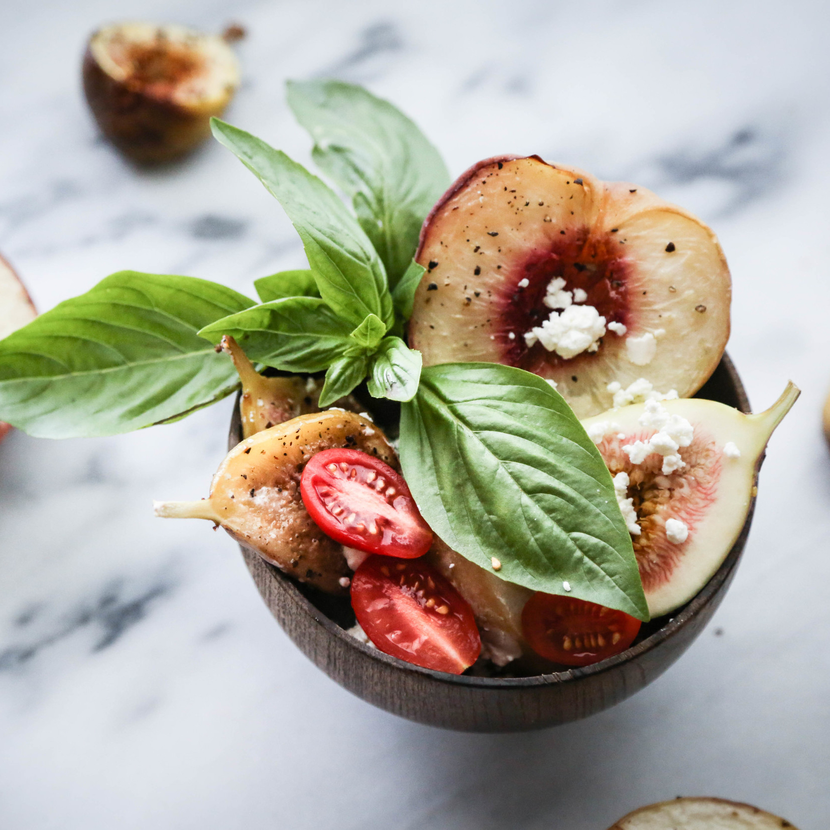 Roasted White Peach + Fig Salad