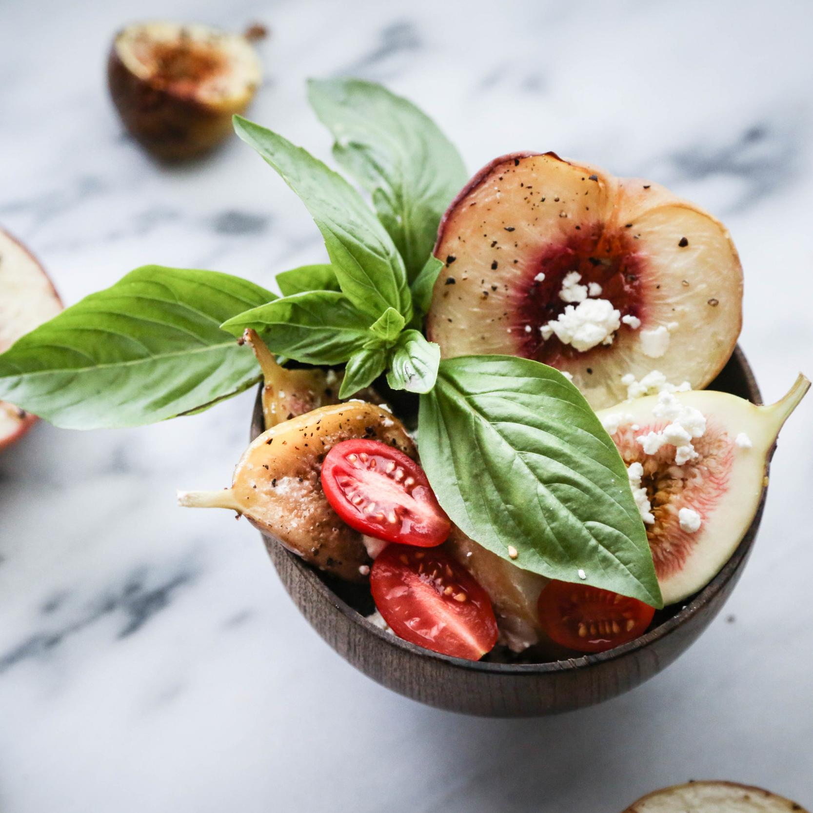 Roasted Fig & White Peach Salad