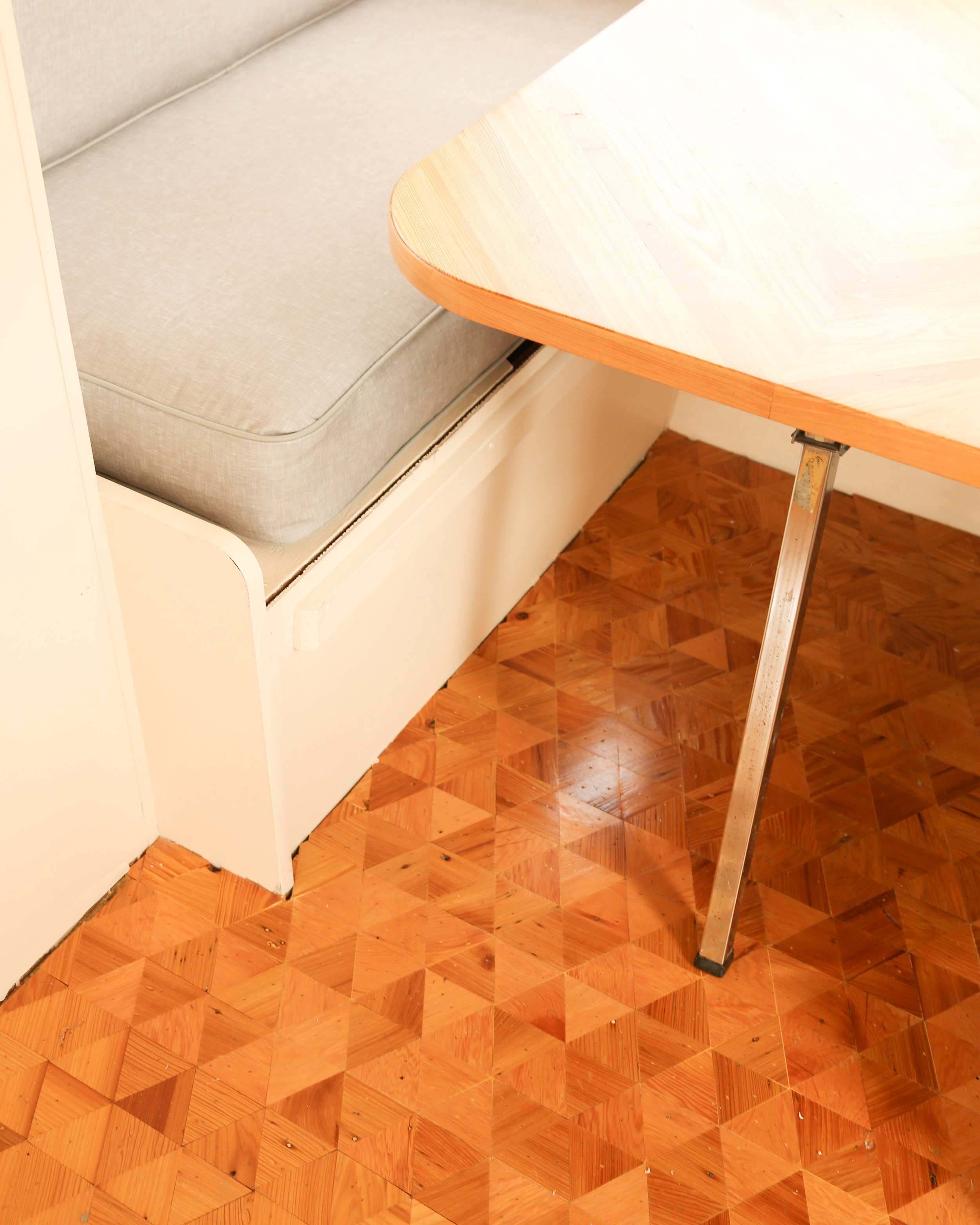 DIY Triangle Wood Floors