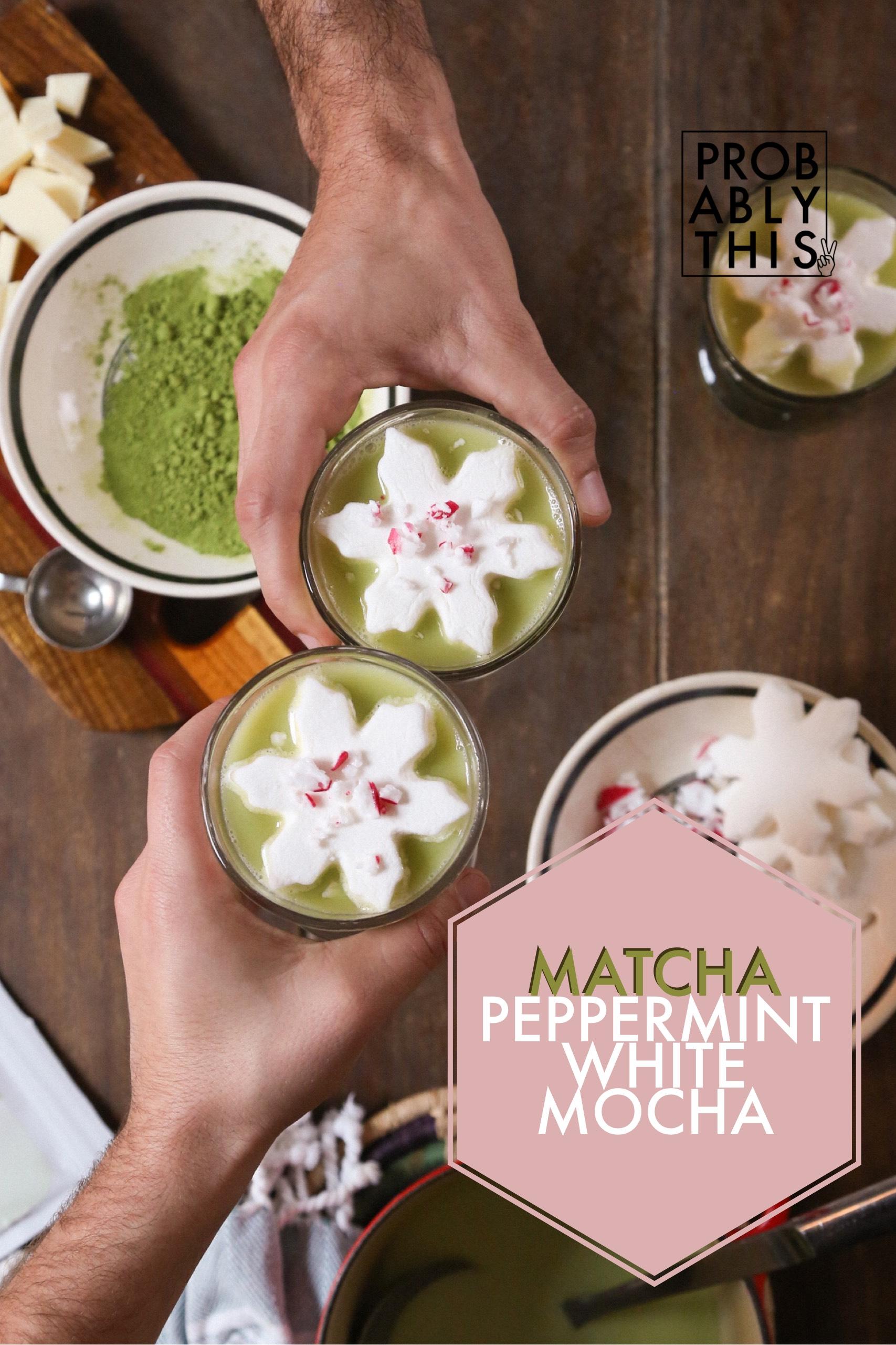 matcha peppermint white mocha